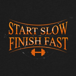 START SLOW FINISH FAST - Men's V-Neck T-Shirt by Canvas