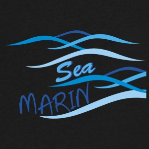 sea marin - Men's V-Neck T-Shirt by Canvas