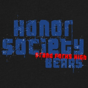 HONOR SOCIETY GRAND FORKS HIGH BEARS - Men's V-Neck T-Shirt by Canvas