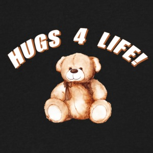 Hugs 4 Life Design - Men's V-Neck T-Shirt by Canvas