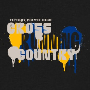 VICTORY POINTE HIGH CROSS RUNNING COUNTRY - Men's V-Neck T-Shirt by Canvas