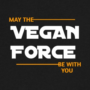 MAY THE VEGAN FORCE BE WITH YOU - Men's V-Neck T-Shirt by Canvas