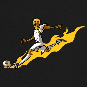 anime football player - Men's V-Neck T-Shirt by Canvas