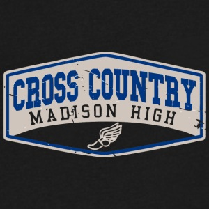Cross Country Madison High - Men's V-Neck T-Shirt by Canvas