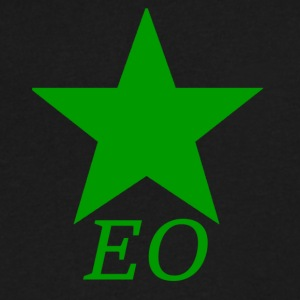 EO and Green Star - Men's V-Neck T-Shirt by Canvas