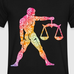 goatee libra - Men's V-Neck T-Shirt by Canvas