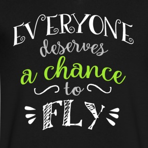 Wicked Musical Quote. Everyone Deserves A Chance - Men's V-Neck T-Shirt by Canvas