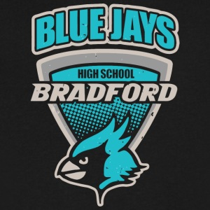 Blue Jays High School Bradford - Men's V-Neck T-Shirt by Canvas