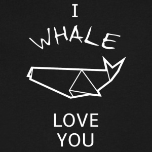 Funny and sweet Whale Pun T-shirt design - Men's V-Neck T-Shirt by Canvas