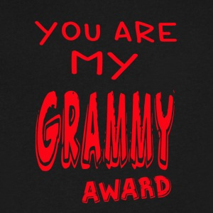YOU ARE MY GRAMMY AWARD - Men's V-Neck T-Shirt by Canvas