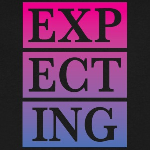 expecting - Men's V-Neck T-Shirt by Canvas