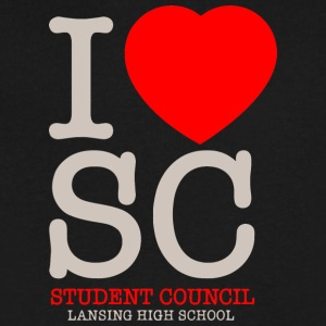 SC Student Council Lansing High School - Men's V-Neck T-Shirt by Canvas