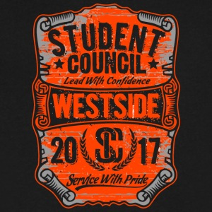 STUDENT COUNCIL Lead With Confidence EAST HIGH 201 - Men's V-Neck T-Shirt by Canvas