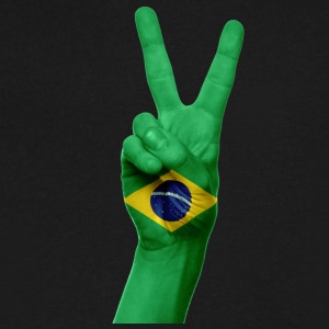 PEACE BRAZIL - Men's V-Neck T-Shirt by Canvas