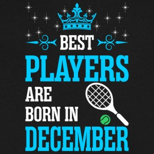 Best Players Are Born In December - Men's V-Neck T-Shirt by Canvas