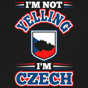 Im Not Yelling Im Czech - Men's V-Neck T-Shirt by Canvas
