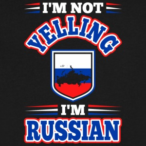 Im Not Yelling Im Russian - Men's V-Neck T-Shirt by Canvas