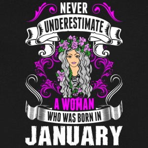 Never Underestimate A Woman Who Was Born In Januar - Men's V-Neck T-Shirt by Canvas