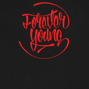 Forever young - Men's V-Neck T-Shirt by Canvas
