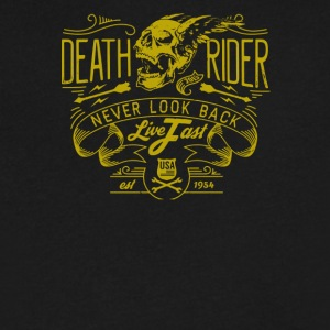 Deat rider never look back live fast - Men's V-Neck T-Shirt by Canvas