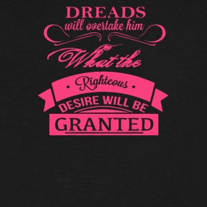 Dreads willovertake him righteous desire will be - Men's V-Neck T-Shirt by Canvas