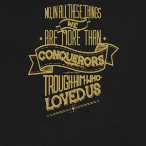 No in all these things we are more than conquerors - Men's V-Neck T-Shirt by Canvas