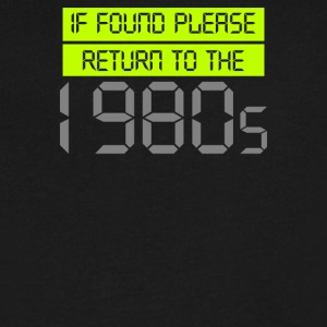 If Found Please Return - Men's V-Neck T-Shirt by Canvas