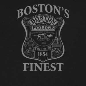 Police Boston's Finest - Men's V-Neck T-Shirt by Canvas