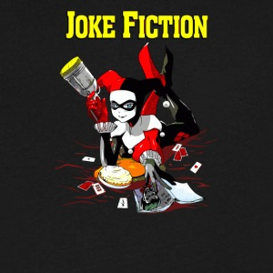 Joke Fiction - Men's V-Neck T-Shirt by Canvas
