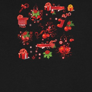 Christmas Elements 5 - Men's V-Neck T-Shirt by Canvas