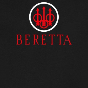 Beretta Gun Army Weapon Logo - Men's V-Neck T-Shirt by Canvas