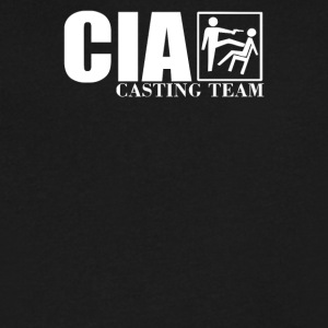 CIA Casting Team FUNNY - Men's V-Neck T-Shirt by Canvas