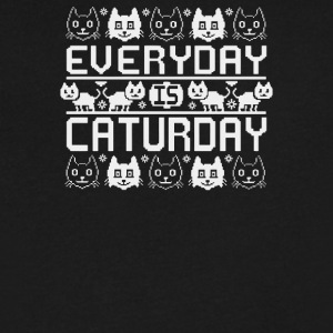 Every Day Is Caturday - Men's V-Neck T-Shirt by Canvas