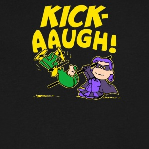 Kick Aaugh - Men's V-Neck T-Shirt by Canvas