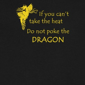 Don t Poke the Dragon - Men's V-Neck T-Shirt by Canvas