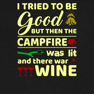 I Tried To Be Good But Then campfire Was Lit - Men's V-Neck T-Shirt by Canvas