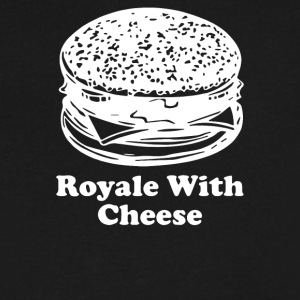 Royale With Cheese - Men's V-Neck T-Shirt by Canvas