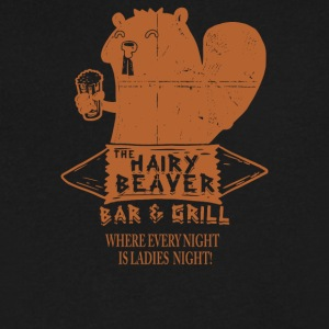 The Hairy Beaver Bar - Men's V-Neck T-Shirt by Canvas