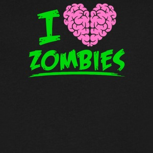 I Heart Zombies - Men's V-Neck T-Shirt by Canvas