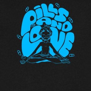 2D pills and love - Men's V-Neck T-Shirt by Canvas