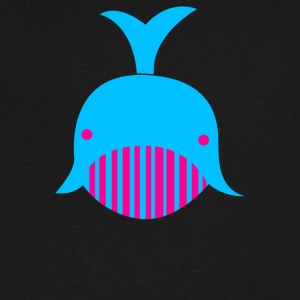 Geo Whale - Men's V-Neck T-Shirt by Canvas