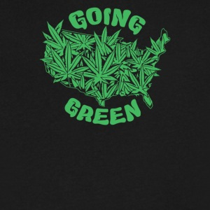 Ganja Green Cyber System - Men's V-Neck T-Shirt by Canvas