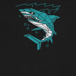 Polygon Shark - Men's V-Neck T-Shirt by Canvas