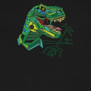Polygon T-Rex - Men's V-Neck T-Shirt by Canvas