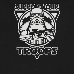Support our troops - Men's V-Neck T-Shirt by Canvas