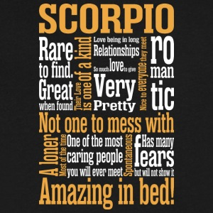 Scorpio Amazing In Bed - Men's V-Neck T-Shirt by Canvas