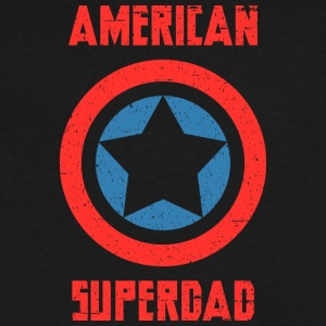 American Superdad - Men's V-Neck T-Shirt by Canvas