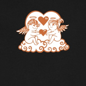 Valentine Cupids with Hearts - Men's V-Neck T-Shirt by Canvas