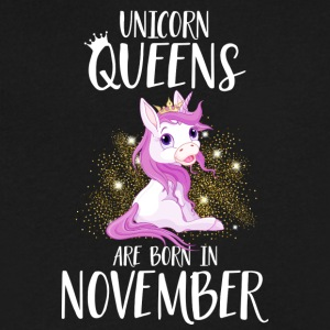 UNICORN QUEENS ARE BORN IN NOVEMBER - Men's V-Neck T-Shirt by Canvas