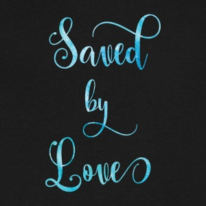 Saved by Love - Men's V-Neck T-Shirt by Canvas